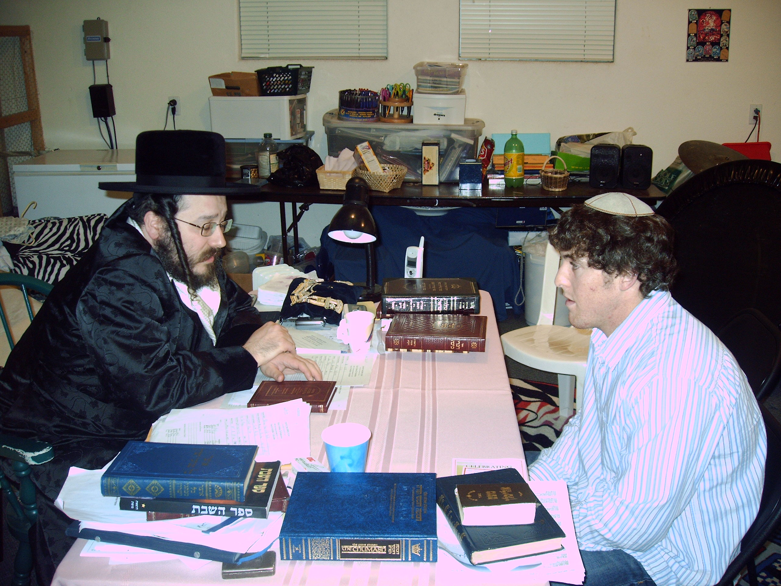 The Rebbe speaking privately with a College Student in San Diego, CA